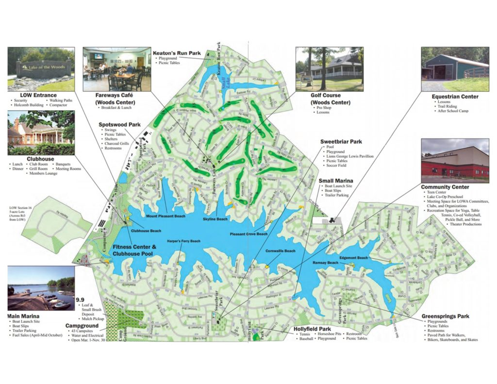 Lake of the Woods Community Map